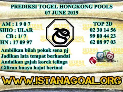 PREDIKSI TOGEL HONGKONG POOLS 07 JUNE 2019