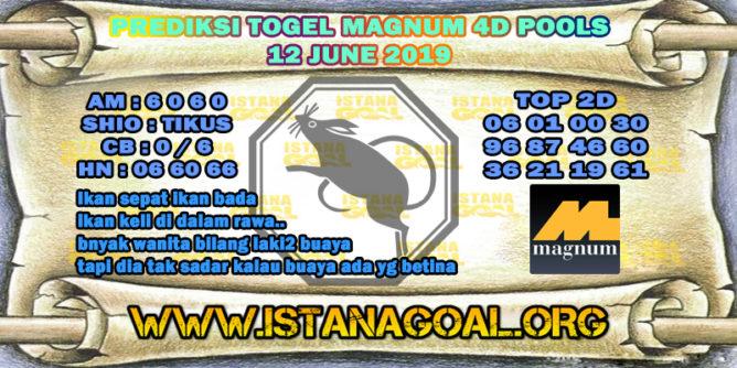 PREDIKSI TOGEL MAGNUM 4D POOLS 12 JUNE 2019