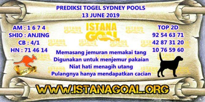 PREDIKSI TOGEL SYDNEY POOLS 13 JUNE 2019
