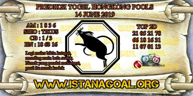 PREDIKSI TOGEL HONGKONG POOLS 14 JUNE 2019