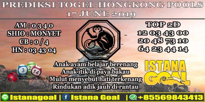 PREDIKSI TOGEL HONGKONG POOLS 17 JUNE 2019