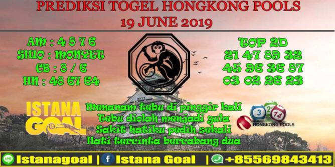 PREDIKSI TOGEL HONGKONG POOLS 19 JUNE 2019