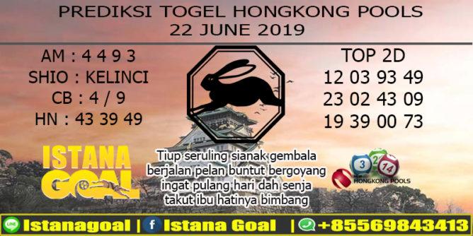 PREDIKSI TOGEL HONGKONG POOLS 22 JUNE 2019