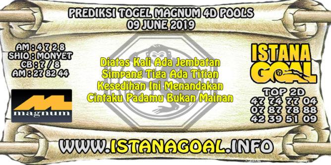 PREDIKSI TOGEL MAGNUM 4D POOLS 09 JUNE 2019