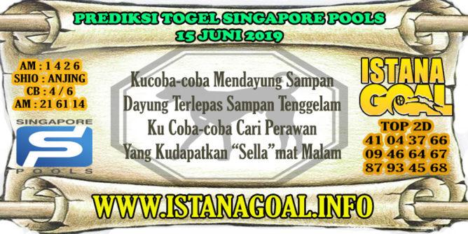 PREDIKSI TOGEL SINGAPORE POOLS 15 JUNE 2019
