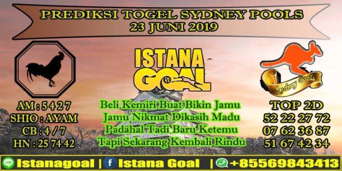 PREDIKSI TOGEL SYDNEY POOLS 23 JUNI 2019