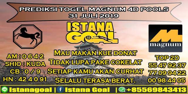 PREDIKSI TOGEL MAGNUM 4D POOLS 31 JULI 2019
