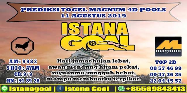 PREDIKSI TOGEL MAGNUM 4D POOLS 11 AGUSTUS 2019