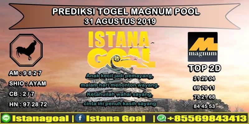 PREDIKSI TOGEL MAGNUM 4D POOLS 31 AGUSTUS 2019