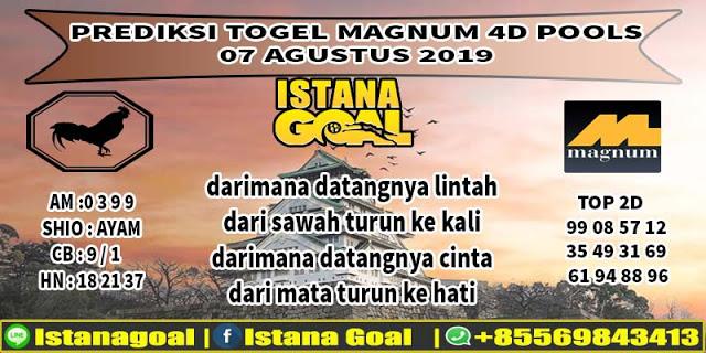 PREDIKSI TOGEL MAGNUM 4D POOLS 07 AGUSTUS 2019