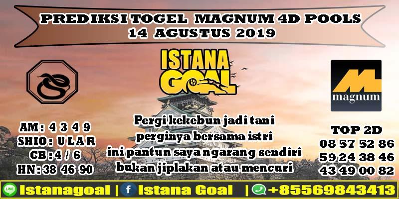 PREDIKSI TOGEL MAGNUM 4D POOLS 14 AGUSTUS 2019