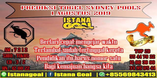 PREDIKSI TOGEL SYDNEY POOLS 01 AGUSTUS 2019