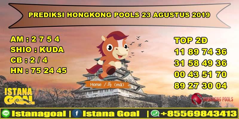 PREDIKSI TOGEL HONGKONG POOLS 23 AGUSTUS 2019