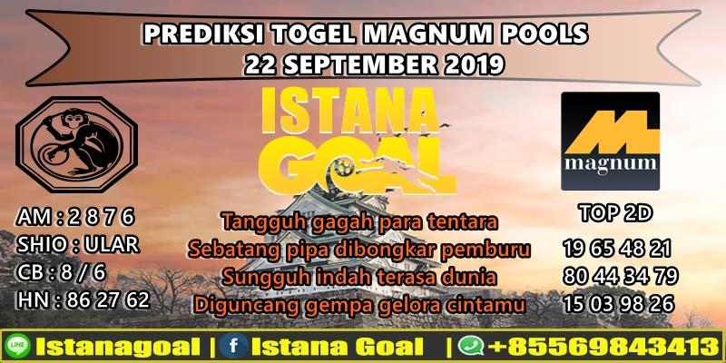 PREDIKSI TOGEL MAGNUM POOLS 22 SEPTEMBER 2019