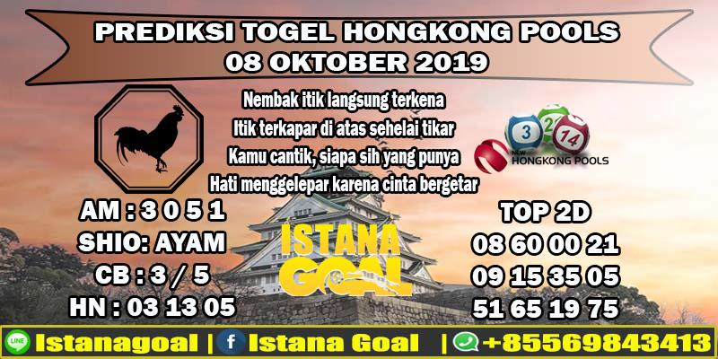 PREDIKSI TOGEL HONGKONG POOLS 08 OKTOBER 2019