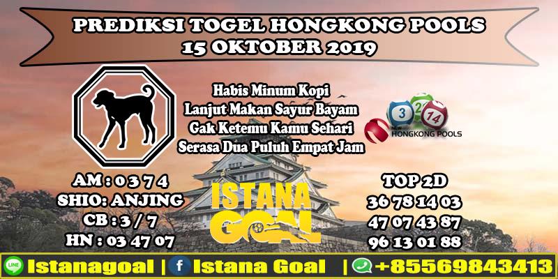 PREDIKSI TOGEL HONGKONG POOLS 15 OKTOBER 2019