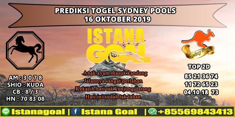 PREDIKSI TOGEL SYDNEY POOLS 16 OKTOBER 2019