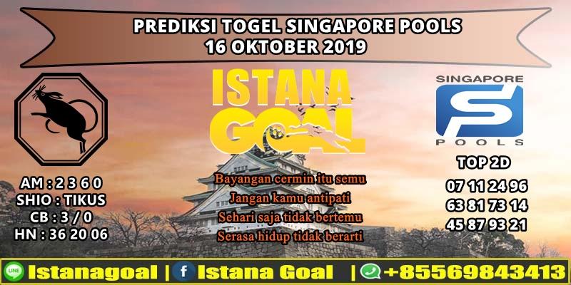 PREDIKSI TOGEL SINGAPORE POOLS 16 OKTOBER 2019