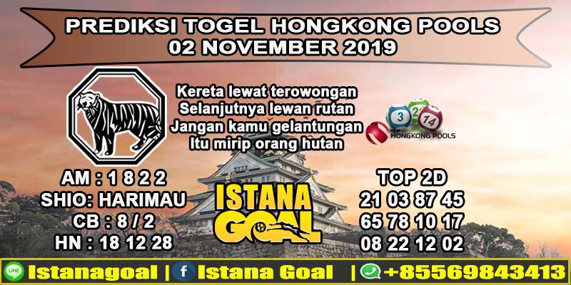 PREDIKSI TOGEL HONGKONG POOLS 02 NOVEMBER 2019
