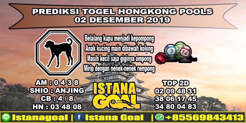 PREDIKSI TOGEL HONGKONG POOLS 02 DESEMBER 2019