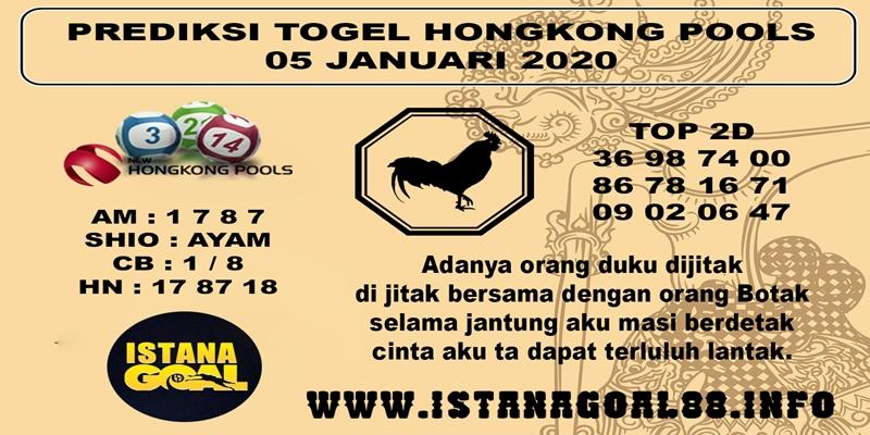 PREDIKSI TOGEL HONGKONG POOLS 05 JANUARI 2020