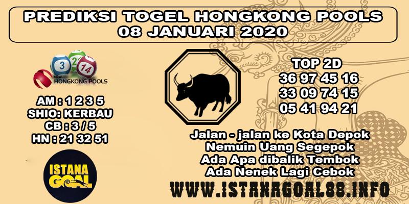 PREDIKSI TOGEL HONGKONG POOLS 08 JANUARI 2020