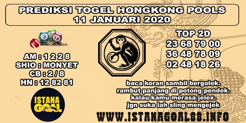 PREDIKSI TOGEL HONGKONG POOLS 11 JANUARI 2020
