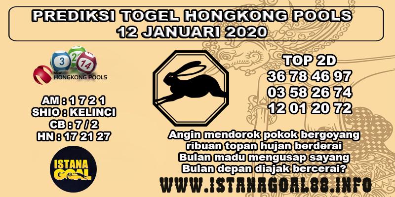 PREDIKSI TOGEL HONGKONG POOLS 12 JANUARI 2020