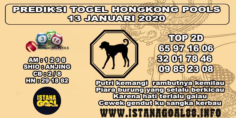 PREDIKSI TOGEL HONGKONG POOLS 13 JANUARI 2020