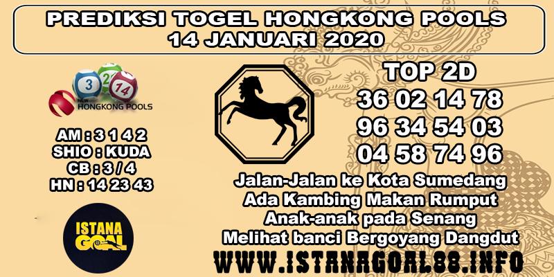 PREDIKSI TOGEL HONGKONG POOLS 14 JANUARI 2020