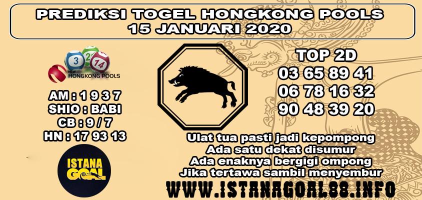PREDIKSI TOGEL HONGKONG POOLS 15 JANUARI 2020