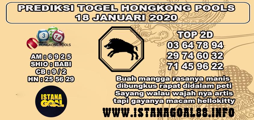 PREDIKSI TOGEL HONGKONG POOLS 18 JANUARI 2020