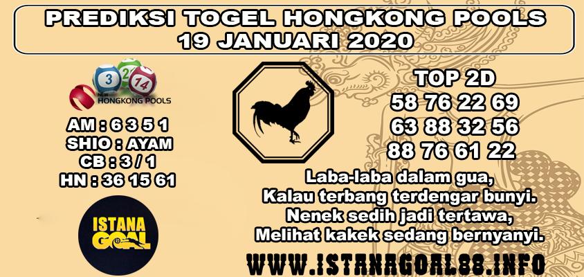 PREDIKSI TOGEL HONGKONG POOLS 19 JANUARI 2020