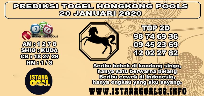 PREDIKSI TOGEL HONGKONG POOLS 20 JANUARI 2020