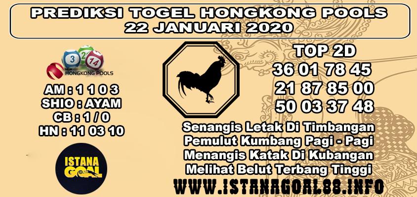 PREDIKSI TOGEL HONGKONG POOLS 22 JANUARI 2020