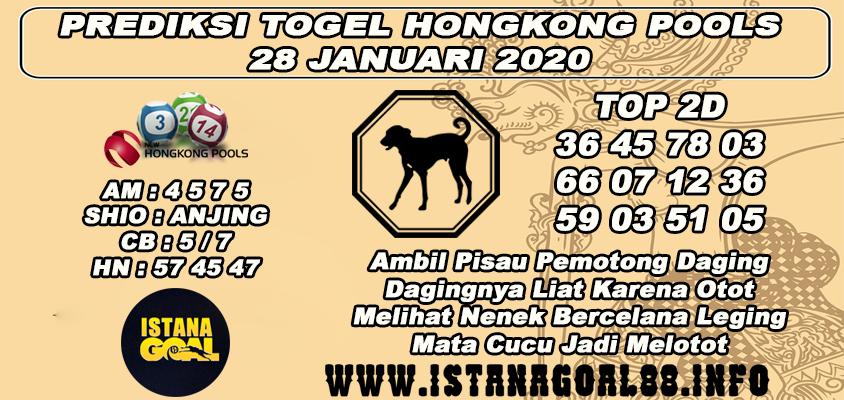 PREDIKSI TOGEL HONGKONG POOLS 28 JANUARI 2020