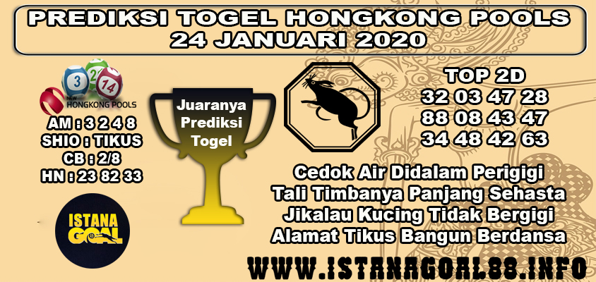 PREDIKSI TOGEL HONGKONG POOLS 24 JANUARI 2020