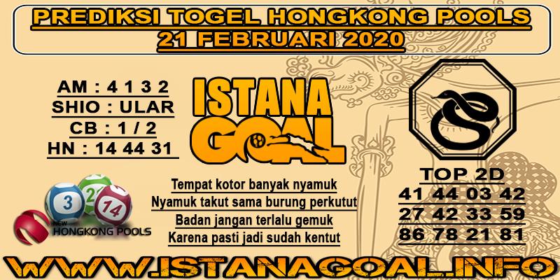 PREDIKSI TOGEL HONGKONG POOLS 21 FEBRUARI 2020