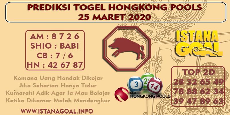 PREDIKSI TOGEL HONGKONG POOLS 25 MARET 2020