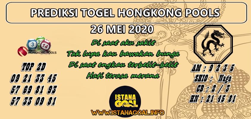PREDIKSI TOGEL HONGKONG POOLS 26 MAY 2020