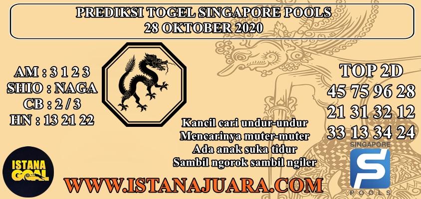 PREDIKSI TOGEL SINGAPORE POOLS 28 OKTOBER 2020